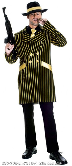 20s Gangster Adult Costume Medium