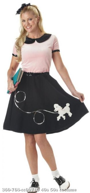 50's Hop w/Poodle Skirt Adult Costume