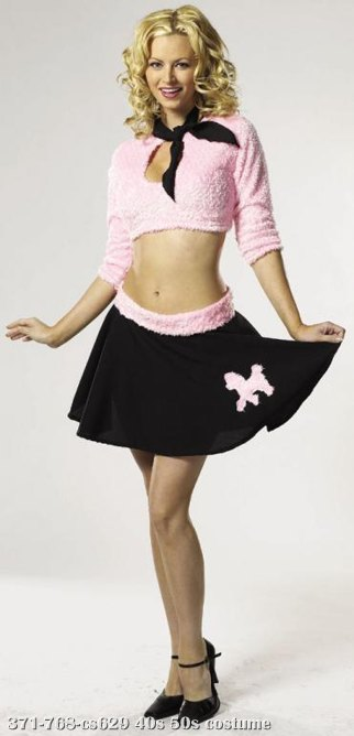 Sweetie Sock Hop Adult Costume