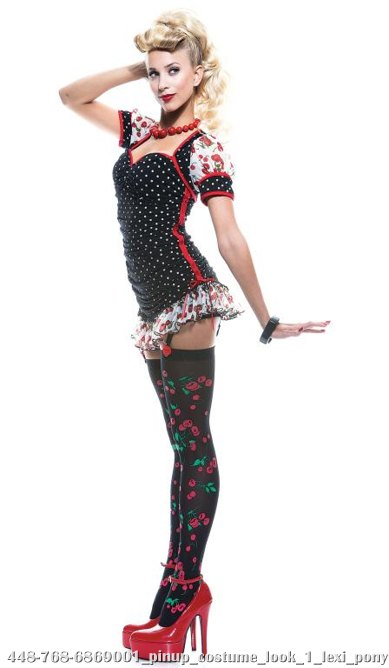 Pinup Girl French Kiss Adult Costume