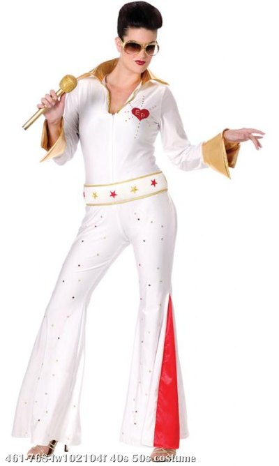 Elvis Female Jumpsuit Adult Costume