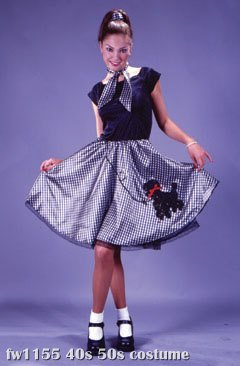 Bobby Soxer 50's Poodle Adult Costume