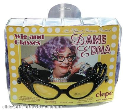 Dame Edna: Wig And Glasses Set