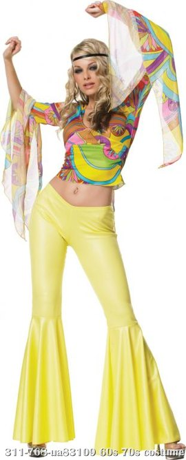 Psychedelic Hippie Babe Sexy Adult Costume