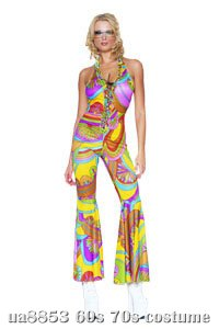 Hippie Jumpsuit Sexy Adult Costume