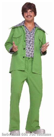 70's Green Leisure Suit Adult Costume