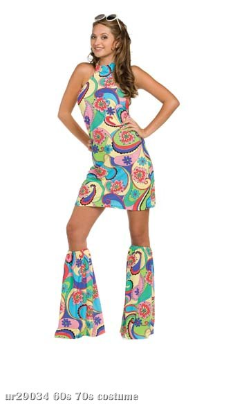 60's Girl Far Out Adult Costume