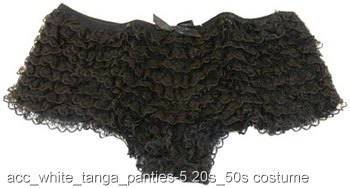 Black Ruffle Tanga Panties