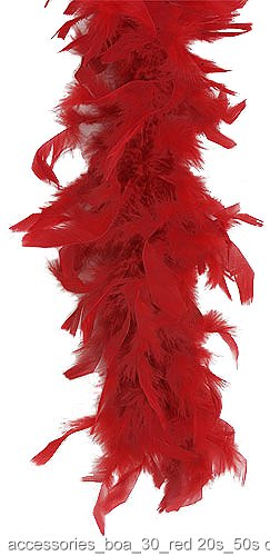 Red 40 Gram Feather Boa
