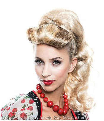 Pin Up Girl Ponytail Wig