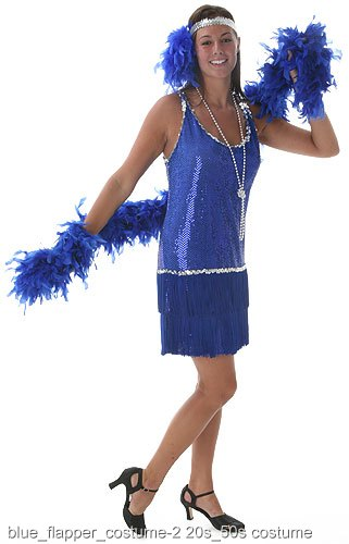 Royal Blue Plus Size Flapper Costume