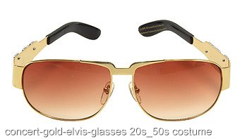 Concert Gold Elvis Glasses
