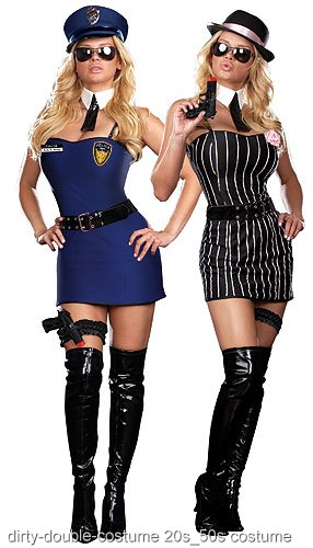 Reversible Sexy Cop/Gangster Costume