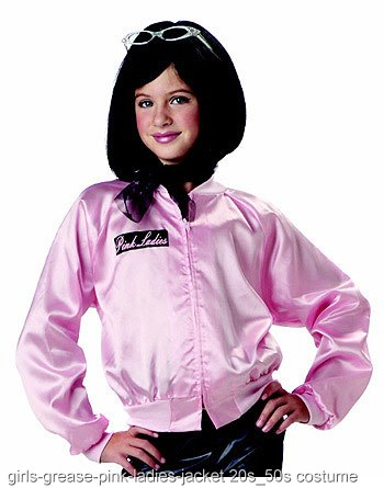 Small Girls Grease Pink Ladies Jacket