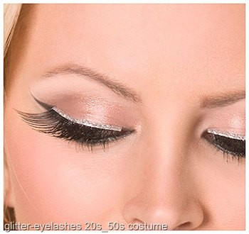 Black and Silver Glitter Eyelashes
