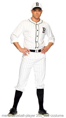 Mens Baseball Uniform Costume