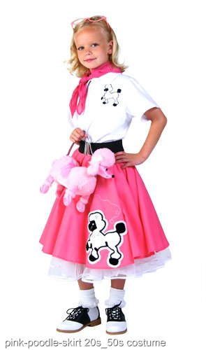 c827ec67583b Kids Deluxe Pink Poodle Skirt Costume - In Stock : About Costume Shop