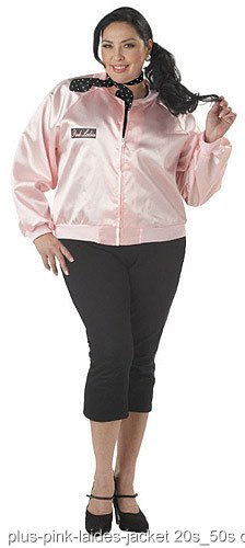 Plus Size Pink Ladies Jacket