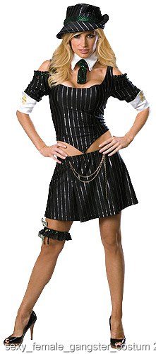 Female Sexy Gangster Costume