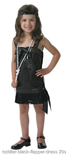 Toddler Black Flapper Costume
