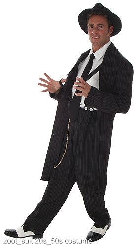 Black Zoot Suit Costume - Click Image to Close
