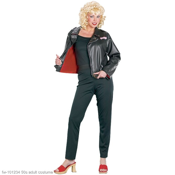 Adult Deluxe Grease Sandy Leather Jacket