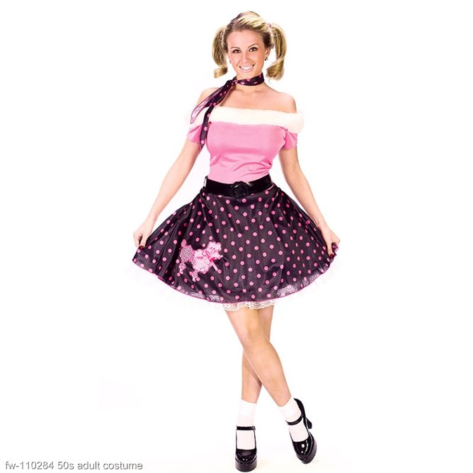 50s Poodle Dress Adult Costume