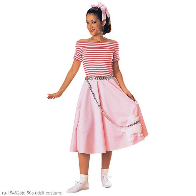 Adult Pink Nifty Fifties Dress Costume