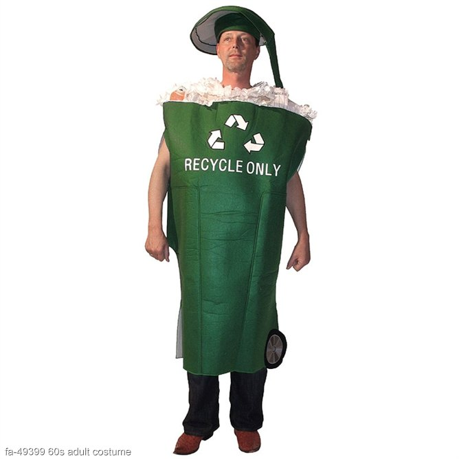 Go Green Recycle Bin Adult Costume