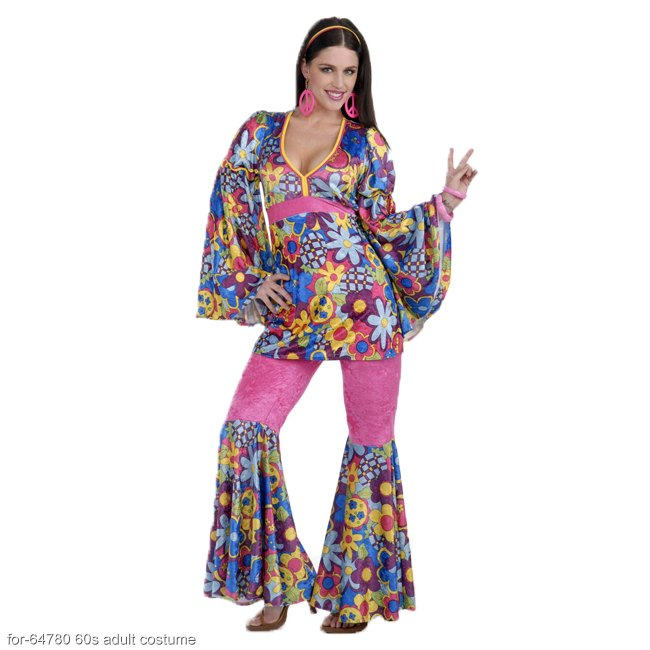 Hip Flower Child Hippie Adult Costume