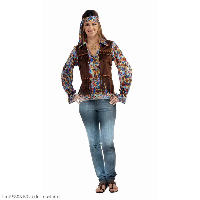 Women's Groovy Hippie Costume Kit