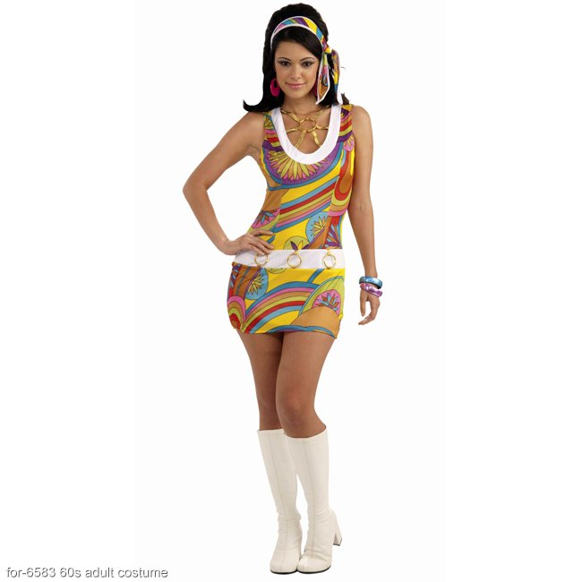 Groovy Go-Go Girl 60s Adult Costume