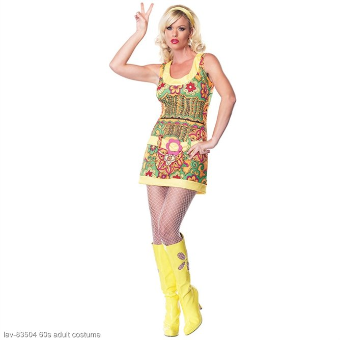 Funky Mod Hippie Adult Costume