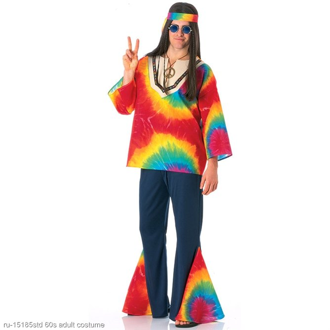 Psychedelic Hippy Adult 60s Costume