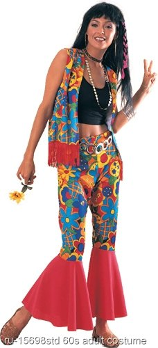 Flower Power 60s Hippy Adult Costume