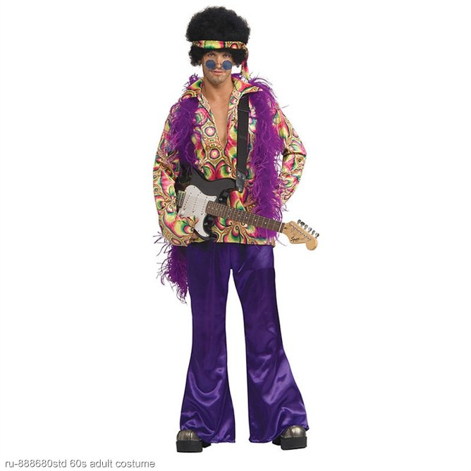 Purple Daze Hippie Adult Costume