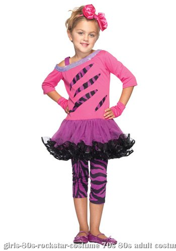 Girls Retro Rockstar Costume