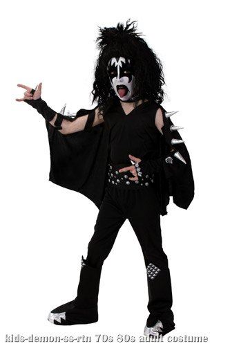Kids Screenprint KISS Demon Costume