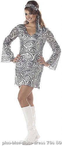Plus Size Disco Diva Dress - Click Image to Close