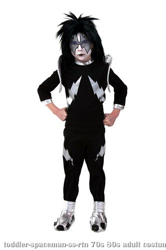 Toddler Screenprint KISS Spaceman Costume - Click Image to Close
