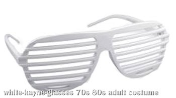 White 80s Glasses