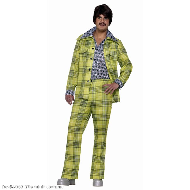 Plaid Leisure Suit 70s Costume
