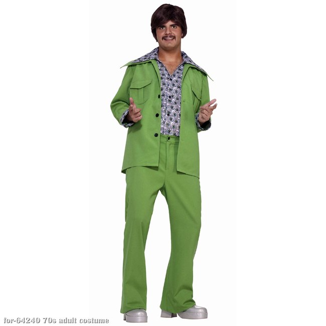 Green Leisure Suit 70s Costume