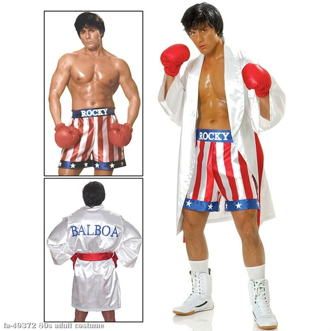Adult Men/'s Rocky Balboa Boxing Costume