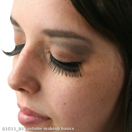 Black Feather Eyelashes with Case