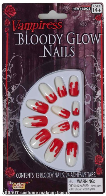 Bloody Glo Nails Adult