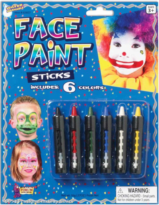 Face Paint Sticks Pack of 6