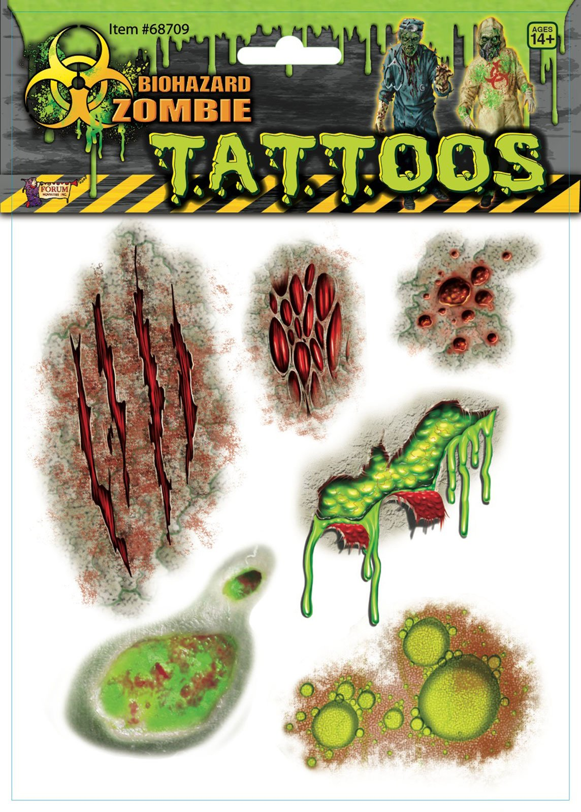 Biohazard Zombie Mutant Body Part Tattoos