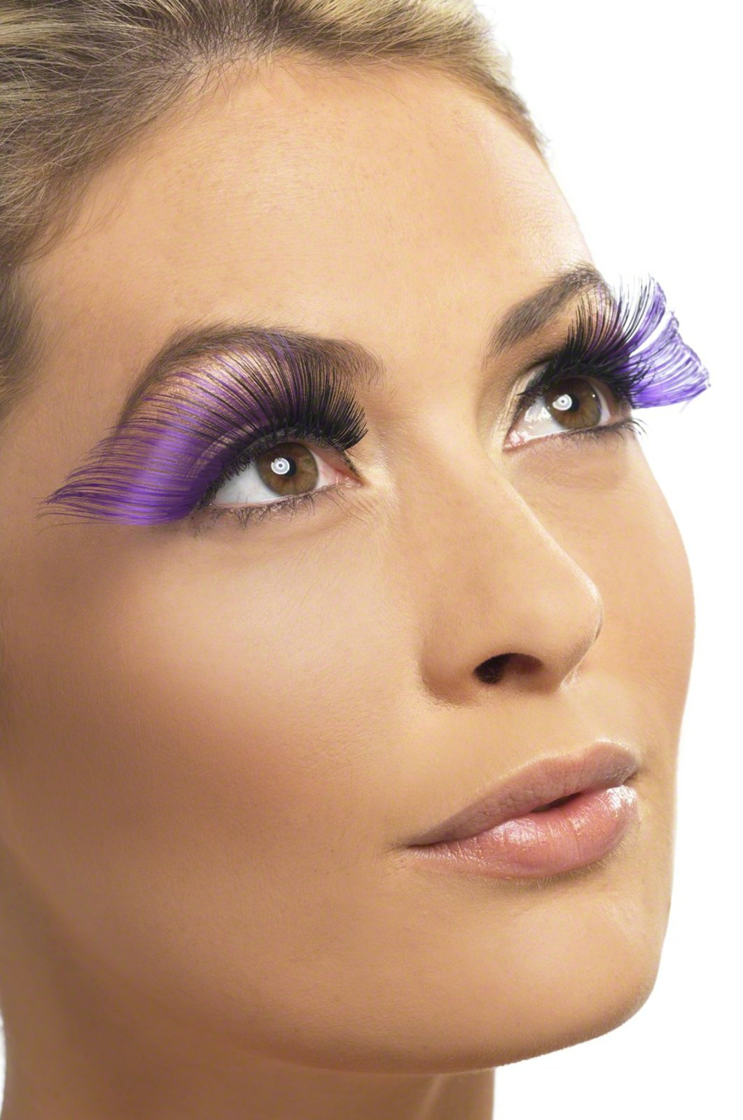Very Long Purple Eyelashes