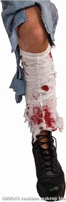 Bloody Leg Bandage Adult